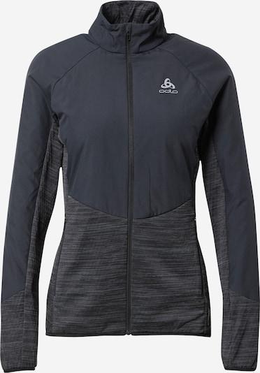 ODLO Sportjacke in stone / schwarz, Produktansicht