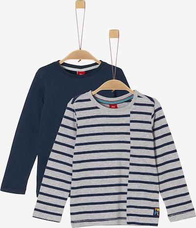 s.Oliver Shirt in marine / grau, Produktansicht