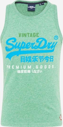 Superdry Särk rohekassinine / meleeritud roheline / valge, Tootevaade