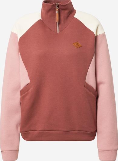 Bluză de molton PROTEST pe rosé / roz deschis / alb, Vizualizare produs