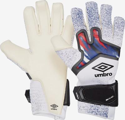 UMBRO Handschuh in blau / rot / schwarz / weiß, Produktansicht