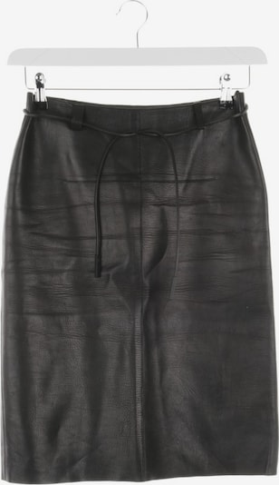 Gucci Lederrock in XXS in schwarz, Produktansicht