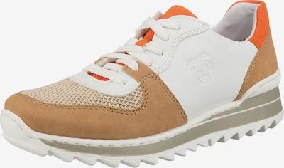 RIEKER Baskets basses en beige foncé / orange foncé / blanc, Vue avec produit