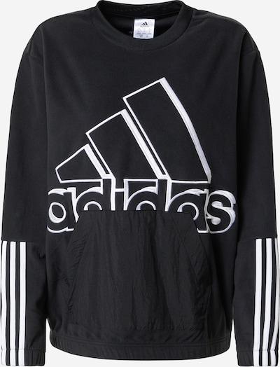 ADIDAS PERFORMANCE Sport sweatshirt i svart / vit, Produktvy