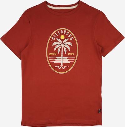 BILLABONG Sportshirt 'SNAKE' in gelb / rostrot / weiß, Produktansicht
