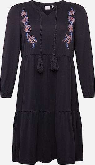 Junarose Sukienka 'Adina' w kolorze ciemny niebieski / różowy pudrowy / czarnym, Podgląd produktu