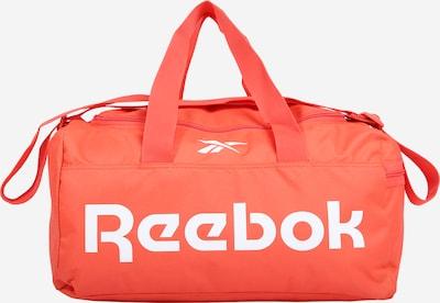 REEBOK Спортна чанта в оранжево / бяло, Преглед на продукта