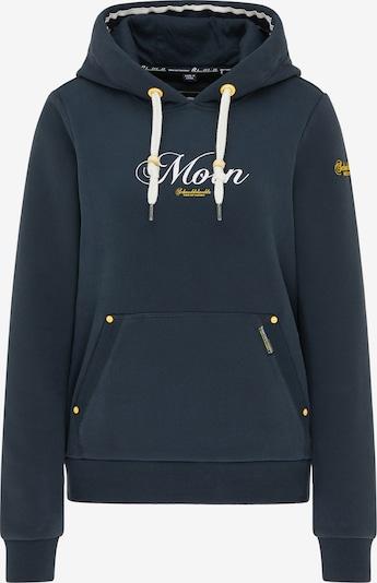 Schmuddelwedda Sweatshirt in marine / gelb / weiß, Produktansicht