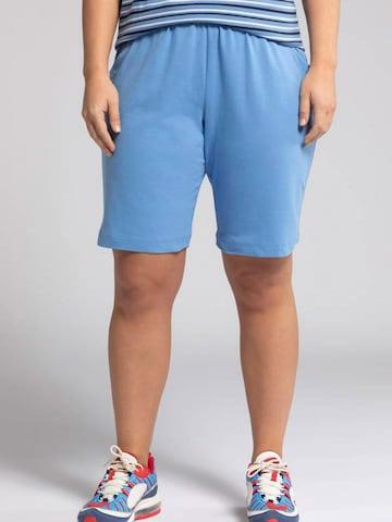 Ulla Popken Shorts in Blau