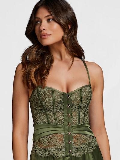 Hunkemöller Korsetti 'Amelia' värissä vihreä: Näkymä edestä
