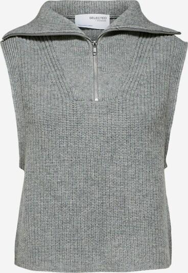 SELECTED FEMME Adīta veste, krāsa - pelēks, Preces skats