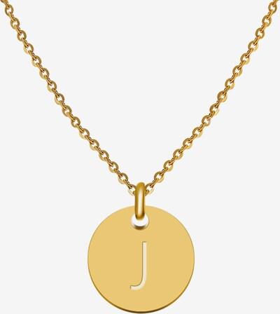 GOOD.designs Buchstabenkette 'J' in gold, Produktansicht