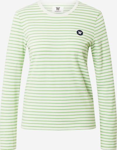 WOOD WOOD Μπλουζάκι 'Moa' σε πράσινο παστέλ / λευκό, Άποψη προϊόντος