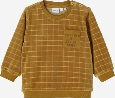 NAME IT Sweatshirt in dunkelgelb / schwarz, Produktansicht