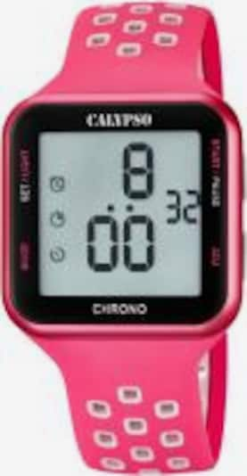 CALYPSO WATCHES Digitaluhr 'Color Run' in pink / schwarz / weiß, Produktansicht