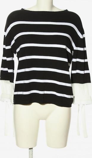 LISA CAMPIONE Rundhalspullover in M in schwarz / weiß, Produktansicht