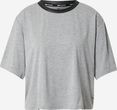 PUMA Sportshirt in graumeliert / schwarz, Produktansicht