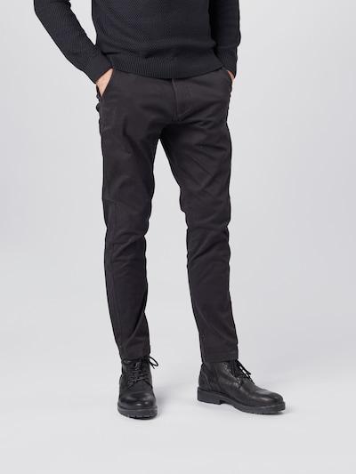 !Solid Lærredsbukser 'Jim' i sort, Modelvisning