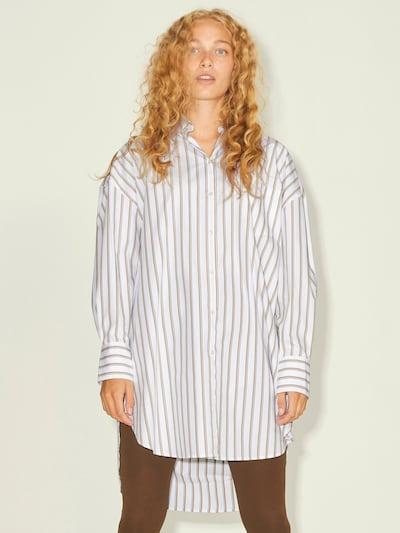 JJXX Bluse 'JXLACY' in braun / weiß, Modelansicht