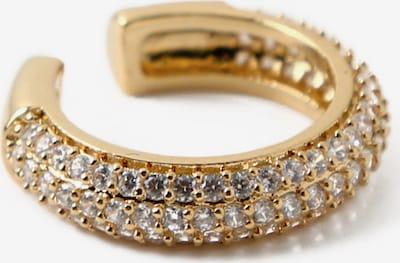 Orelia Ohrringe in gold / transparent, Produktansicht
