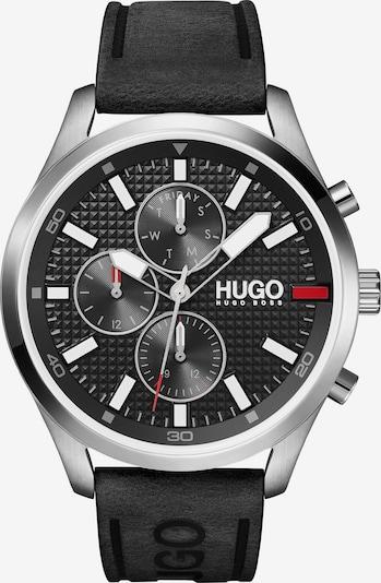 HUGO Uhr in schwarz / silber, Produktansicht