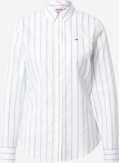 Tommy Jeans Bluza | svetlo modra / bela barva, Prikaz izdelka