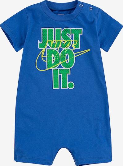 Nike Sportswear Kombinezon | kraljevo modra / neonsko rumena / svetlo zelena barva, Prikaz izdelka