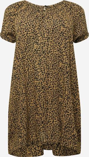KAFFE CURVE Túnica 'Leamy' en marrón claro / negro, Vista del producto