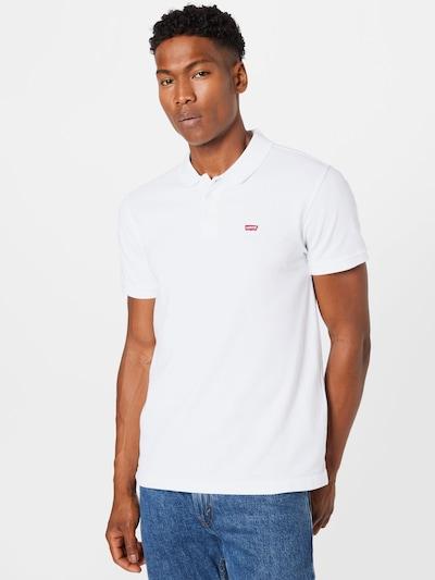 LEVI'S Poloshirt in feuerrot / weiß: Frontalansicht