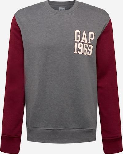 GAP Sweatshirt in grau / dunkelrot, Produktansicht
