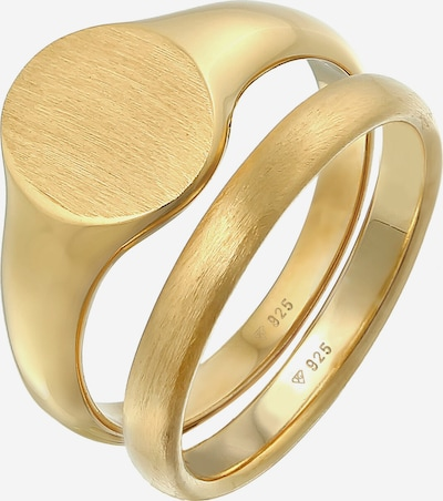 KUZZOI Ring Bandring, Siegelring in gold, Produktansicht