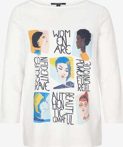 COMMA Sweatshirt in mischfarben / weiß, Produktansicht