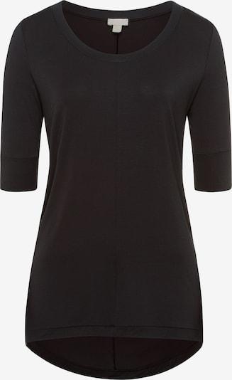 Hanro Kurzarm Shirt ' Yoga ' in schwarz, Produktansicht