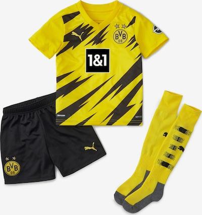 PUMA Trainingsanzug in goldgelb / schwarz, Produktansicht