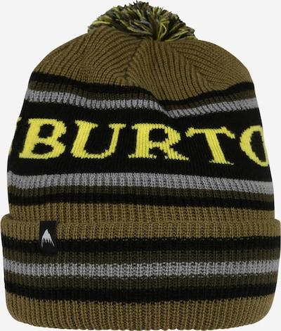 BURTON Sportmütze in neongelb / silbergrau / khaki / oliv / schwarz, Produktansicht