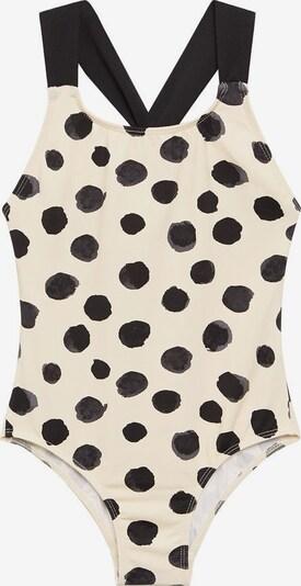 MANGO KIDS Badeanzug 'Carol' in creme / schwarz, Produktansicht