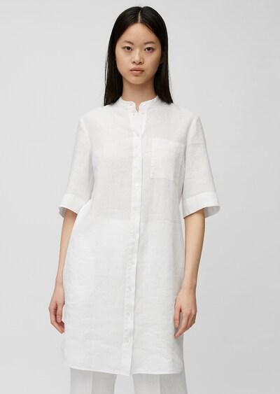 Marc O'Polo Hemdblusenkleid in weiß, Modelansicht