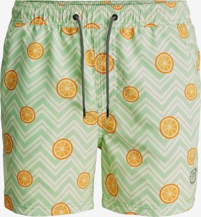 JACK & JONES Plavecké šortky - světle zelená / oranžová, Produkt