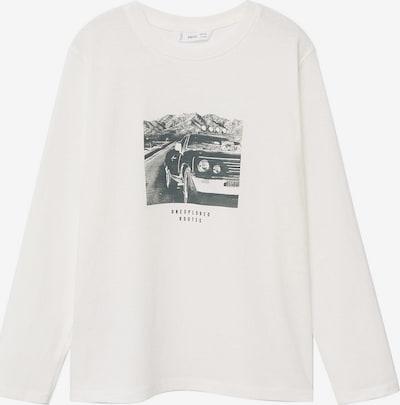 MANGO KIDS Shirt 'ROUTES' in basaltgrau / weiß, Produktansicht