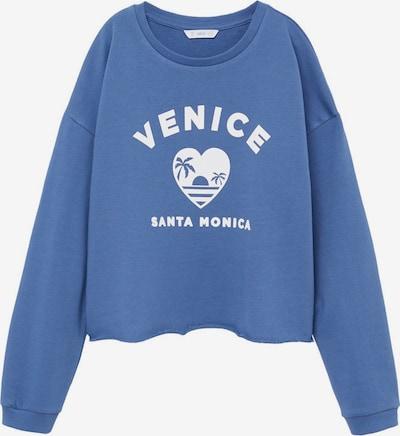 MANGO KIDS Sweatshirt 'Venice' in blau / weiß, Produktansicht