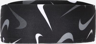 Nike Sportswear Accessoires Bandeau de sport en gris argenté / noir / blanc, Vue avec produit