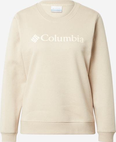 COLUMBIA Sport sweatshirt i beige / vit, Produktvy