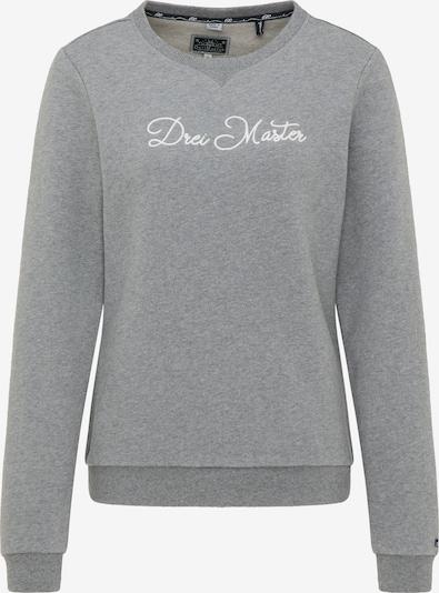 DreiMaster Maritim Sweat-shirt en gris / blanc: Vue de face