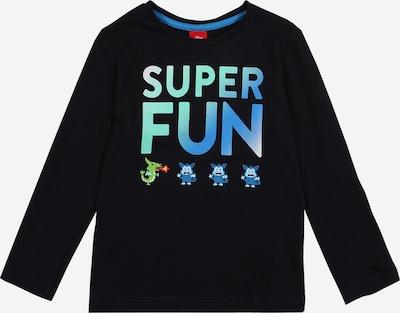 s.Oliver Shirt in blau / dunkelblau, Produktansicht