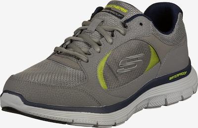 SKECHERS Sneakers laag 'Flex Advantage 4.0' in de kleur Grijs / Olijfgroen / Zwart, Productweergave