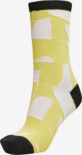 Șosete SELECTED pe galben / negru / alb, Vizualizare produs