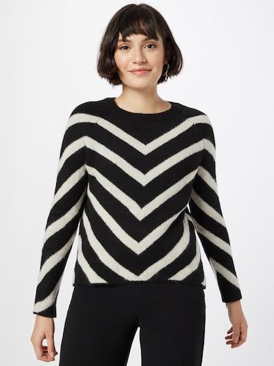 ONLY Trui 'Eliza' in de kleur Zwart / Wit, Modelweergave