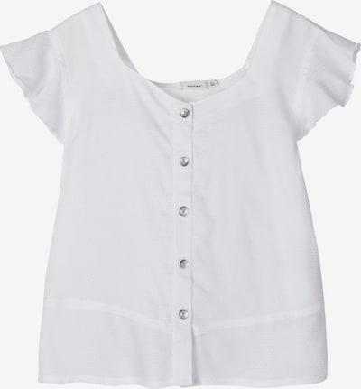 NAME IT Loose Fit Viskose Bluse in weiß, Produktansicht