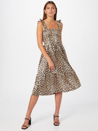 Lollys Laundry Kleid 'Minna' in braun / schwarz / weiß, Modelansicht