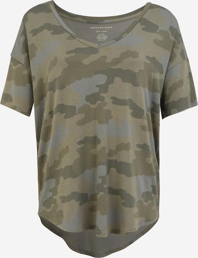 Tricou American Eagle pe gri amestecat / kaki / oliv / verde închis, Vizualizare produs